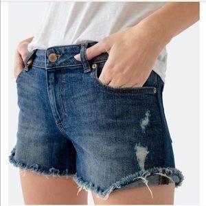 DL1961 karlie boyfriend denim shorts